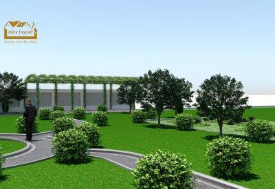 50 sot ərazidə landşaft dizaynı